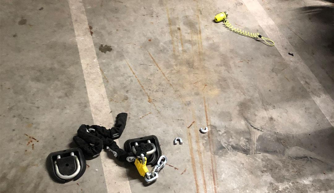 motor gestolen