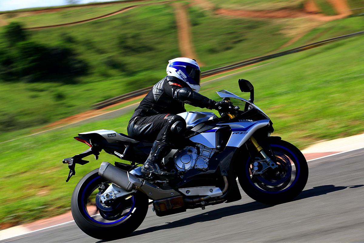 Sportieve motorrijder